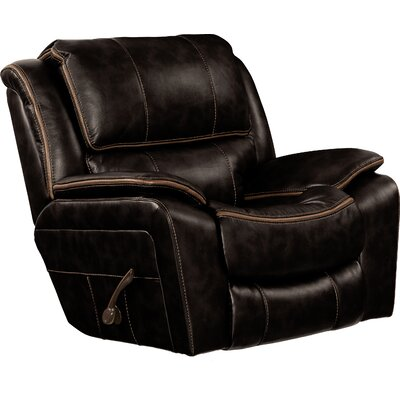 Beckett No Motion Recliner Body Fabric: Black, Reclining Type: Manual