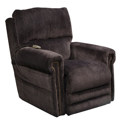 Warner No Motion Power Recliner Body Fabric: Slate, Lumbar Support: No