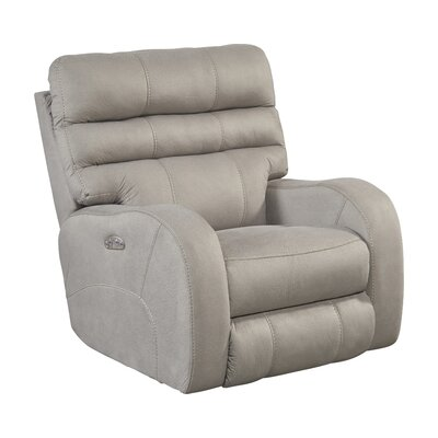 Kelsey No Motion Power Recliner Body Fabric: Aluminum, Lumbar Support: Yes