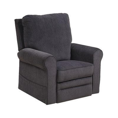 Edwards No Motion Power Recliner Body Fabric: Indigo