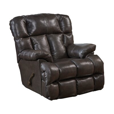 Victor Leather Rocker Recliner Body Fabric: Chocolate, Reclining Type: Manual