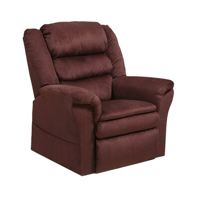 Preston No Motion Power Recliner Body Fabric: Berry