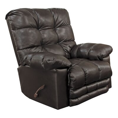 Piazza Rocker Recliner Body Fabric: Chocolate, Reclining Type: Manual