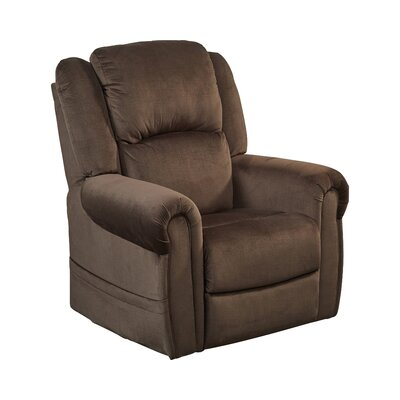Spencer No Motion Power Recliner Body Fabric: Chocolate