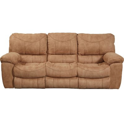Terrance Reclining Sofa Body Fabric: Caramel, Reclining Type: Power