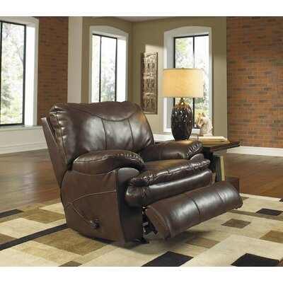 Perez No Motion Recliner Body Fabric: Chestnut, Reclining Type: Manual