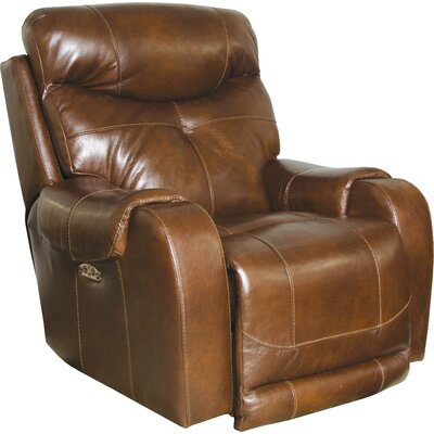 Venice No Motion Power Recliner Body Fabric: Chestnut, Lumbar Support: No