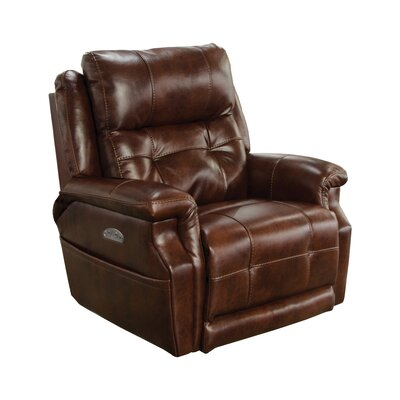 Kepley No Motion Power Recliner Body Fabric: Walnut, Lumbar Support: No