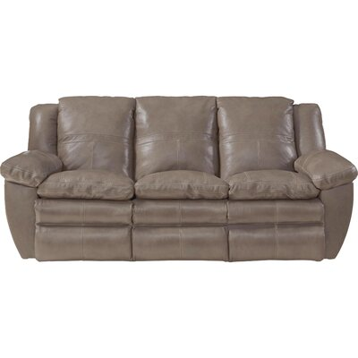 Aria Reclining Sofa Body Fabric: Smoke, Reclining Type: Power