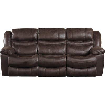 Valiant Reclining Sofa with Drop Down Table Body Fabric: Coffee, Reclining Type: Power