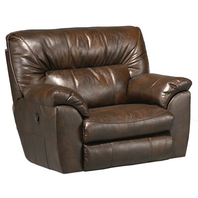 Nolan Extra Wide No Motion Recliner Body Fabric: Chestnut, Reclining Type: Power