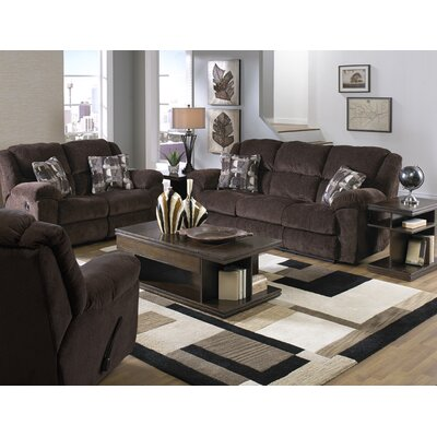 Transformer Reclining Loveseat Body Fabric: Chocolate/Shadow