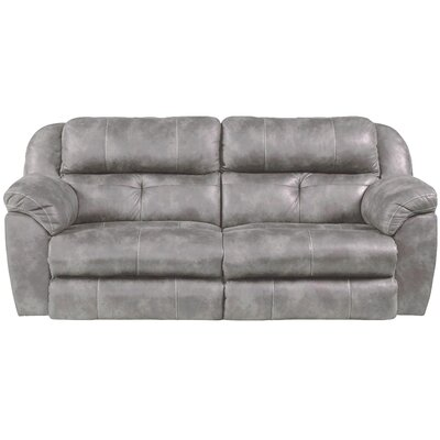 Ferrington Reclining Sofa Body Fabric: Steel, Lumbar Support: No