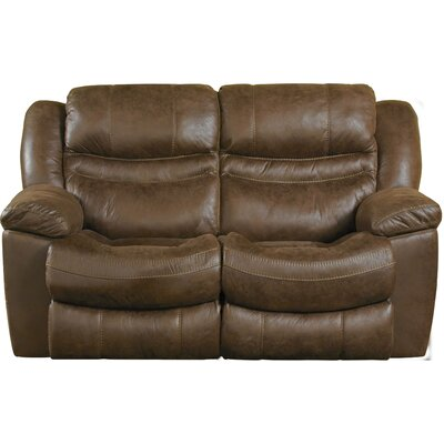 Valiant Reclining Loveseat Body Fabric: Elk, Reclining Type: Power