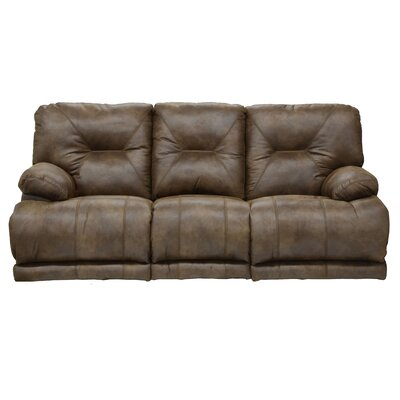 Voyager Reclining Sofa Body Fabric: Elk, Reclining Type: Manual, Drop Down Table: No