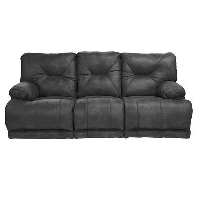 Voyager Reclining Sofa Body Fabric: Slate, Reclining Type: Manual, Drop Down Table: Yes