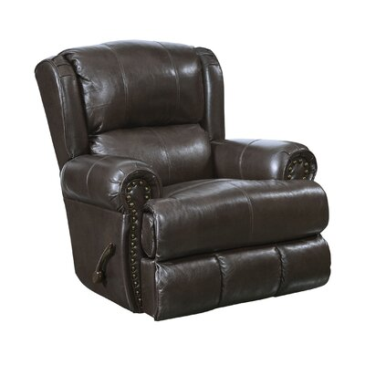 Duncan Glider Recliner Body Fabric: Chocolate, Reclining Type: Manual