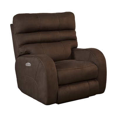 Kelsey No Motion Power Recliner Body Fabric: Walnut, Lumbar Support: No