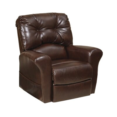 Landon No Motion Power Recliner Body Fabric: Java