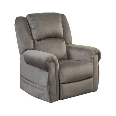 Spencer No Motion Power Recliner Body Fabric: Pewter