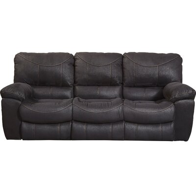 Terrance Reclining Sofa Body Fabric: Black, Reclining Type: Power