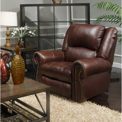 Messina No Motion Power Recliner Body Fabric: Walnut, Lumbar Support: Yes