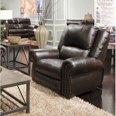 Messina No Motion Power Recliner Body Fabric: Chocolate, Lumbar Support: No