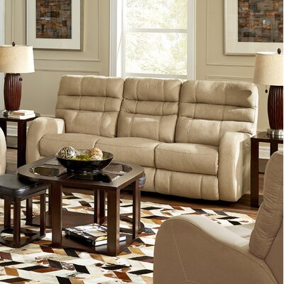 Kelsey Reclining Sofa Body Fabric: Doe, Lumbar Support: Yes