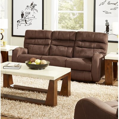 Kelsey Reclining Sofa Body Fabric: Walnut, Lumbar Support: Yes