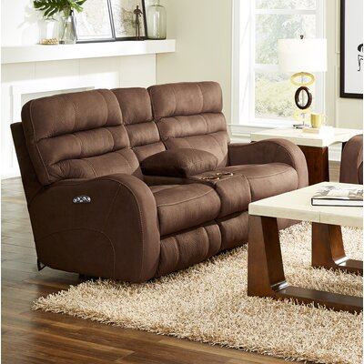 Kelsey Reclining Loveseat Body Fabric: Walnut, Lumbar Support: Yes