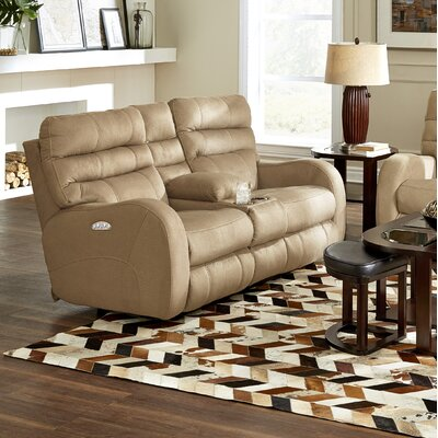 Kelsey Reclining Loveseat Body Fabric: Doe, Lumbar Support: No