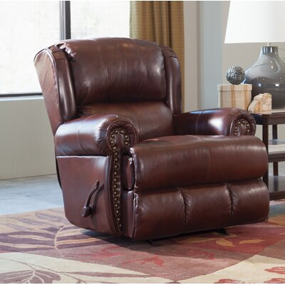 Duncan Glider Recliner Body Fabric: Walnut, Reclining Type: Power