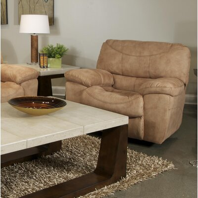 Terrance Rocker Recliner Body Fabric: Caramel, Reclining Type: Power
