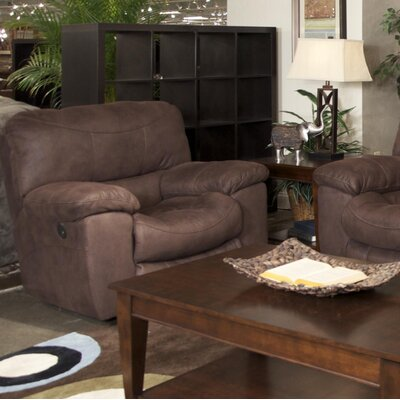 Terrance Rocker Recliner Body Fabric: Chocolate, Reclining Type: Power