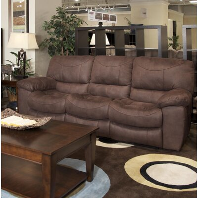 Terrance Reclining Sofa Body Fabric: Chocolate, Reclining Type: Power