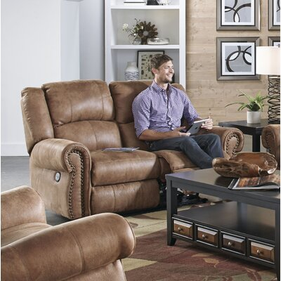 Westin Reclining Loveseat Body Fabric: Nutmeg, Reclining Type: Power
