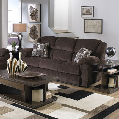Transformer Ultimate Reclining Sofa Body Fabric: Chocolate/Shadow