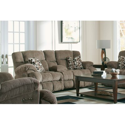 Brice Reclining Loveseat Body Fabric: Chateau/Truffle, Lumbar Support: Yes