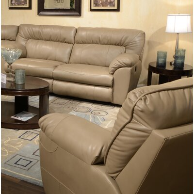 Nolan Extra Wide No Motion Recliner Body Fabric: Putty, Reclining Type: Power