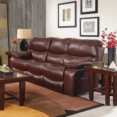 Camden Reclining Sofa Body Fabric: Walnut, Reclining Type: Power