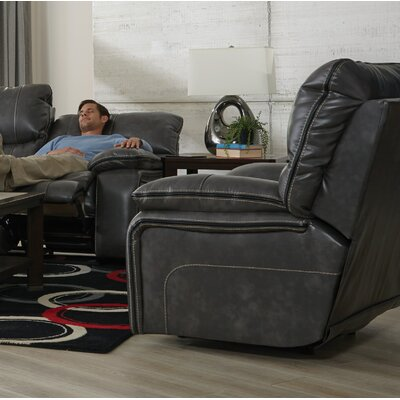 Camden No Motion Recliner Body Fabric: Steel, Reclining Type: Power