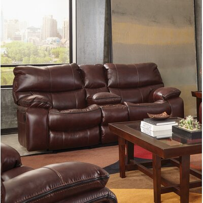 Camden Reclining Loveseat Body Fabric: Walnut, Reclining Type: Manual
