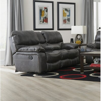 Camden Reclining Loveseat Body Fabric: Steel, Reclining Type: Power