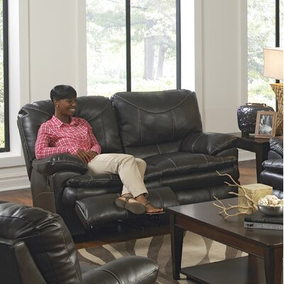 Perez Reclining Loveseat Body Fabric: Steel, Reclining Type: Manual