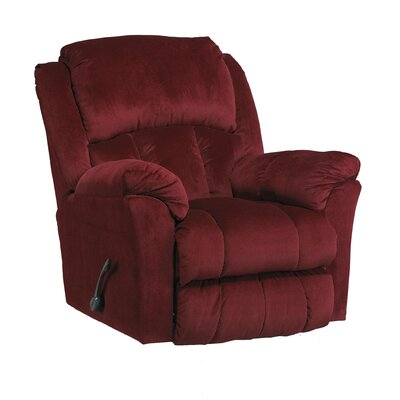 Gibson Glider Recliner Body Fabric: Berry, Motion Type: Swivel Glider