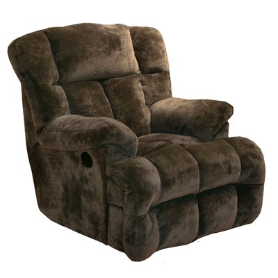 General Chaise Wall Hugger Recliner Upholstery: Chocolate
