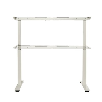 Airlift 47.4 H x 62.9 W Desk Base Finish: White