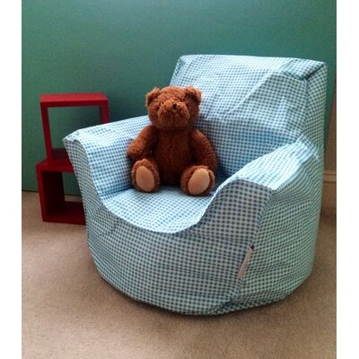 Toddler Bean Bag Chair Upholstery: Blue Gingham