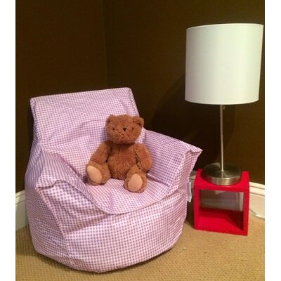 Toddler Bean Bag Chair Upholstery: Pink Gingham