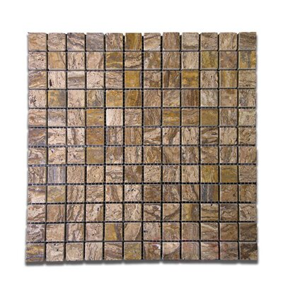 Polished 1 x 1 Natural Stone Mosaic Tile in Alpine